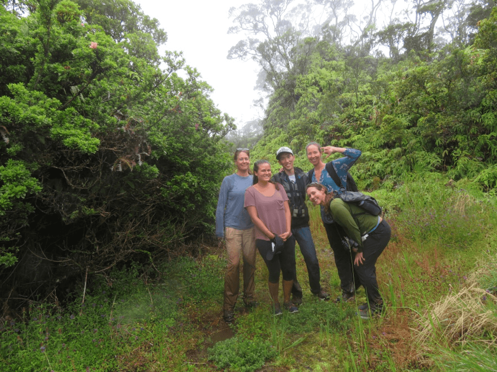UHERO team at Waikamoi with The Nature Conservancy.