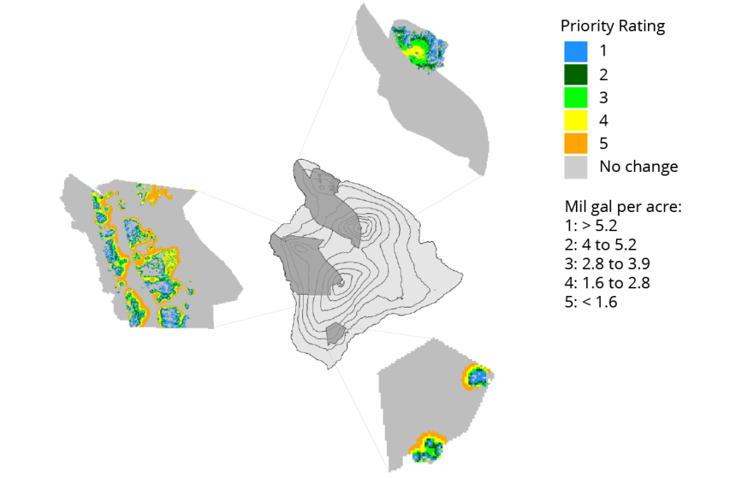 Identifying priority watershed management areas for groundwater recharge protection on Hawai'i Island