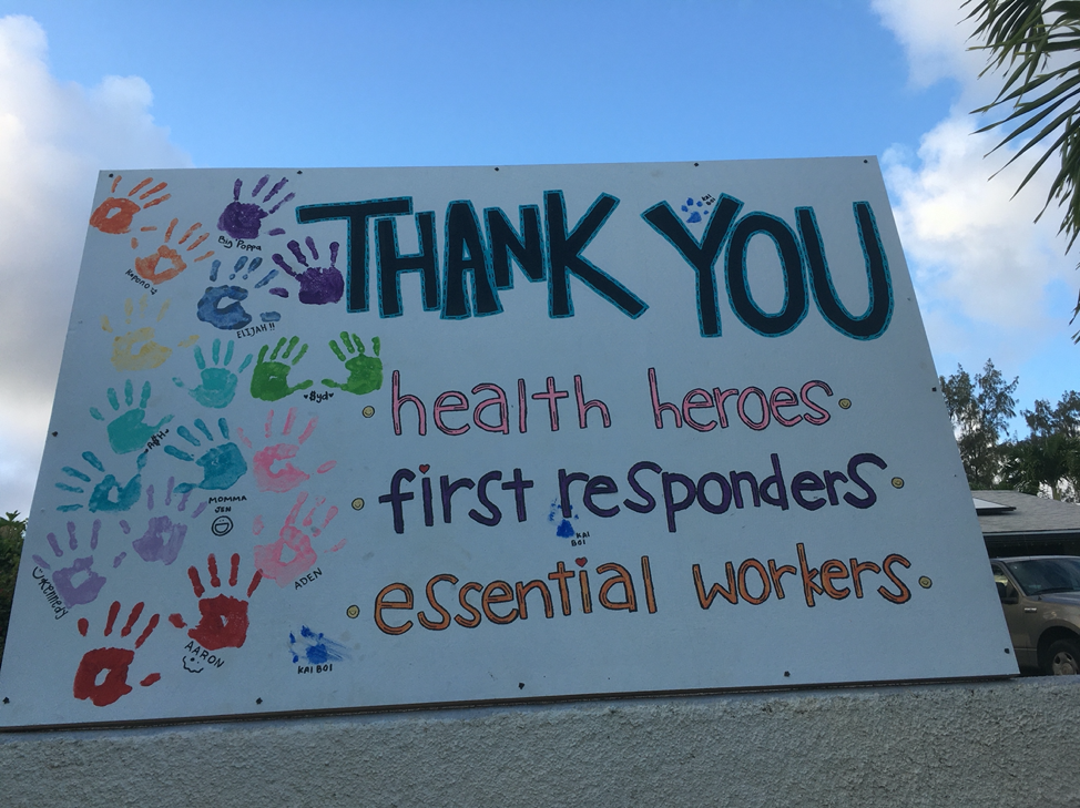 Thank you health heroes, first responders, essential workers