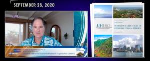 Screenshot of Carl Bonham speaking on Big Island Video News.
