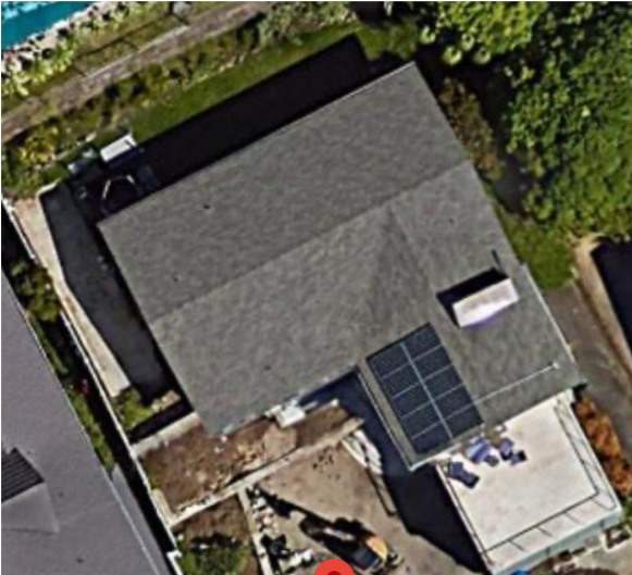 Rooftop with solar panels