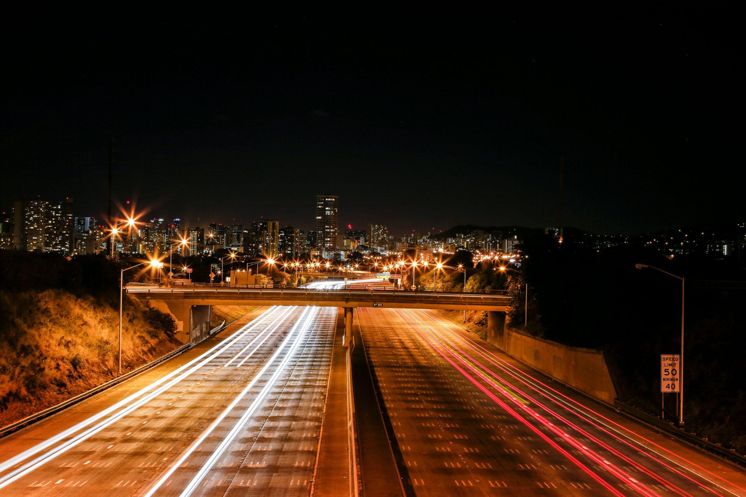 Time lapse Honolulu highway