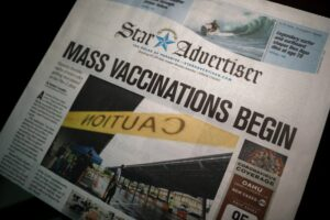 Star Advertiser Front Page: Mass Vaccinations Begin
